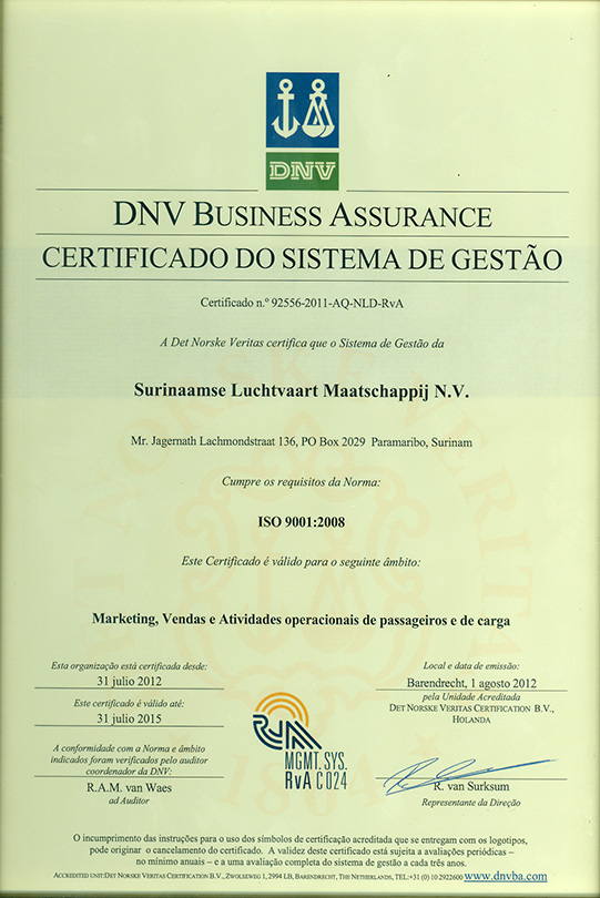 iso dnv certificate